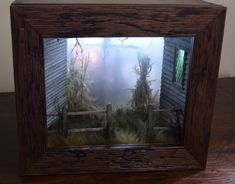 Shadow Boxes Chimerical Reveries on Etsy See our or tags Miniature Rooms, Miniature Houses, Décoration Harry Potter, The Art Of Storytelling, Shadow Box Art, Up Book, Fairy Houses, Doll Houses, Handmade Headbands