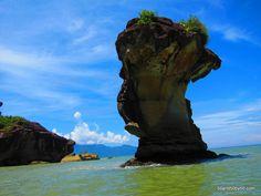 sandstone cliffs, & beaches in Borneo's Bako