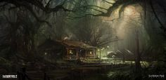 Infamous 2 - Swamp Design Final, Scribble Pad Studios on ArtStation at https://www.artstation.com/artwork/infamous-2-swamp-design-final