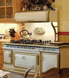 Ideas Vintage Kitchen Stove Rustic For 2019 Kitchen Stove, Old Kitchen, Home Decor Kitchen, Vintage Kitchen, Home Kitchens, Kitchen Appliances, Kitchen Rustic, Black Appliances, Kitchen White