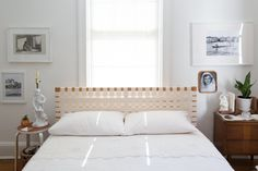 A redesigned IKEA bedframe, in Mariana Cotlear's 600 square foot home in Washington, D.C.