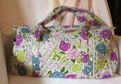 VERA BRADLEY Watercolor Small Quilted Duffel Bag ~ Gym Travel Carryon Duffle Bag #VeraBradley