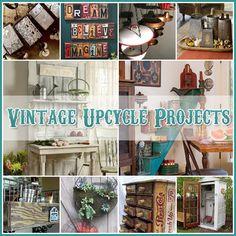 The Cottage Market: Vintage Upcycle Project DIY's Vintage Upcycling, Upcycled Vintage, Vintage Home Decor, Diy Home Decor, Vintage Ideas, Furniture Makeover, Diy Furniture, Creation Deco, Upcycled Crafts