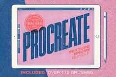 Procreate Texture Brush Bundle by True Grit Texture Supply on @creativemarket