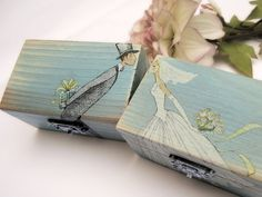 Wedding Wooden box Ring bearer Gift box by SoulCraftyGarden, £19.90
