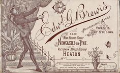 The Nook – Heaton History Group Vintage Business Cards, Cool Business Cards, Victoria House, Home Studio, Newcastle, Old Photos, Vintage World Maps, History, Painting