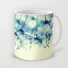 droplets of aqua Mug by ingz - $15.00#mug #cup #society6 #cool #homedecor #gift #coffee #tea #abstract #ingz