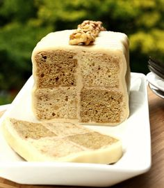 Coffee and Walnut Battenberg Cake - a British Cake
