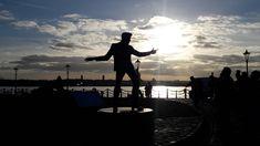 Billy Fury statue Liverpool Pier Head - MMarch 2018