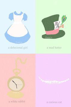 Alice In Wonderland Alice In Wonderland Poster, Adventures In Wonderland, Disney Minimalist, Minimalist Poster, Alice Cosplay, Pop Up Art, Curious Cat, Arte Pop, Classic Image