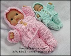 Baby and Doll Hand Knit Designs for Sale Knitting Dolls Clothes, Yarn Dolls, Knitted Dolls, Doll Clothes Patterns, Knitting Patterns Uk, Baby Sweater Knitting Pattern, Free Knitting, Knitted Doll Patterns, Small Baby Dolls