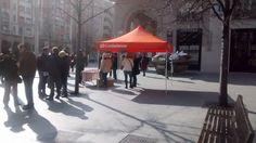 Llevando el mensaje de Ciudadanos - C's Aragón, como viene siendo habitual a los Zaragozanos, esta vez en la Plaza de España el Domingo 8 de Febrero.