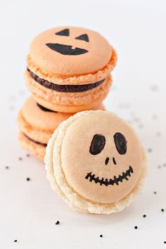 Whether you're planning a themed dinner party or want to stir up some devilishly delicious treats with the kids, we have collected an array of scary looking but scrumptious sweet treats (or tricks) for you to have a stab at. From skeleton macaroons to graveyard mousse, make sure you cook up a storm in your cauldron this Halloween.