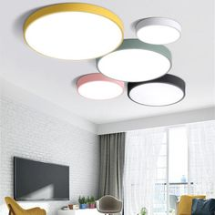LED ceiling lamps ultra-thin multi-color simplified modern ceiling lights - Lighting Ceiling - Ideas of Lighting Ceiling - LED ceiling lamps ultra-thin multi-color simplified modern ceiling lights Modern Led Ceiling Lights, Led Ceiling Lamp, Home Ceiling, Ceiling Light Fixtures, Led Lamp, Ceiling Ideas, Kitchen Ceiling Lights, Kitchen Lighting, House Ceiling Design