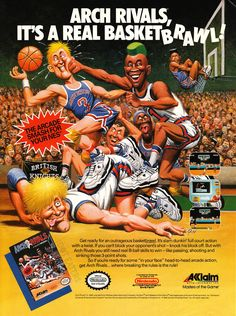 This incredibly fun #basketball game is nothin' but #NES (1990). #NBAplayoffs #bitstory