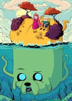 Adventure time marooned Art Print