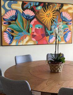 Vitamina D Art N Craft, Canvas Ideas, Mixed Media Art, Art Projects, Graffiti, Abstract Art, Walls, Canada, Tapestry