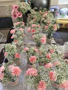 With red carnations