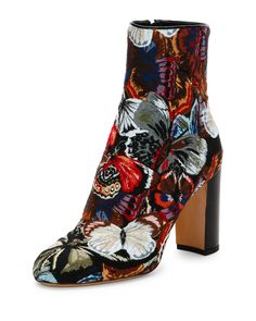 Valentino Butterfly print Jacquard boot