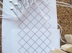 [consider thumb tacks in place of nails] -- Basics of Bobbin Lace - How Did You Make This? | Luxe DIY