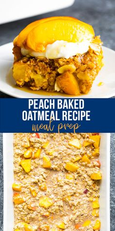 This peach baked oatmeal recipe makes breakfast for a crowd! Loaded with fresh juicy peaches, almonds, ginger, nutmeg and cinnamon, this is one of the best way to enjoy summer peaches. #sweetpeasandsaffron #bakedoatmeal #mealprep #onebowl #breakfast #peaches Breakfast For A Crowd, Best Breakfast Recipes, How To Make Breakfast, Snack Recipes, Peach Baked Oatmeal, Baked Oatmeal Recipes, Healthy Chips, Healthy Eats, Healthy Snacks