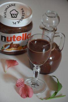 Likier czekoladowy z Nutelli - KulinarnePrzeboje.pl Daiquiri, Irish Cream, Mason Jar Wine Glass, No Cook Meals, Nutella, Food And Drink, Sweets, Snacks, Chocolate