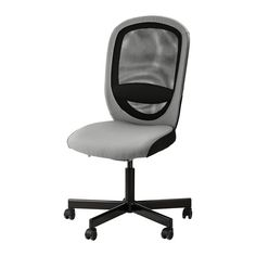 comfortable conf room chairs, we could get 32 of these for around the table. Perimeter chairs could be more simple/stackable.   FLINTAN Swivel chair - Havhult gray - IKEA
