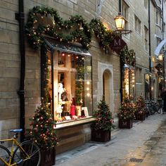 Christmas store front - England