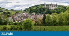 The chateau and village of La Rochepot, located in Burgundy about 15 miles southwest of Beaune. Vineyard, Dolores Park, To Go, Around The Worlds, Adventure, Mansions, Landscape, House Styles, Travel