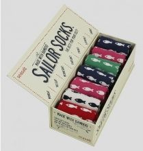 Seasalt Women's Box O' Socks Cute Fishies Bamboo Luxury Gift idea seaside fishing sailor Buy online at www.jinneyring.co.uk