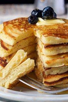 Pancakes Simply Perfect Pancakes Recipe - Try making these with half all purpose and half buckwheat flour.Simply Perfect Pancakes Recipe - Try making these with half all purpose and half buckwheat flour. Pancake Recipe No Baking Powder, Quick Pancake Recipe, Recipe Tasty, Pancake Recipe All Purpose Flour, Pancake Recipes, All Purpose Flour Recipes, King Arthur Flour Pancake Recipe, Pancake Recipe With Half And Half, Pancake Recipe With Self Rising Flour