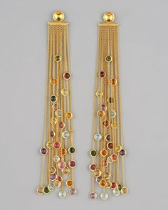 Marco Bicego Jaipur Multicolor Fringe Earrings in Gold