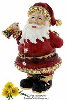 Trinket Box: Santa Ringing Bell