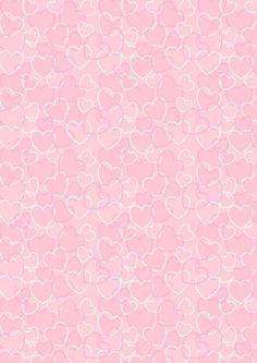 Valentine's Day Scrapbook Paper - Pink Heart Background