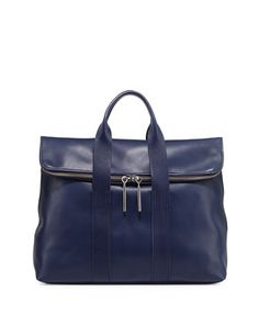 31-Hour Fold-Over Tote Bag, Navy by 3.1 Phillip Lim at Neiman Marcus.
