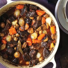 This hearty French stew is a classic combination of wine, garlic, and onion. Serve it with boiled or roasted new potatoes.