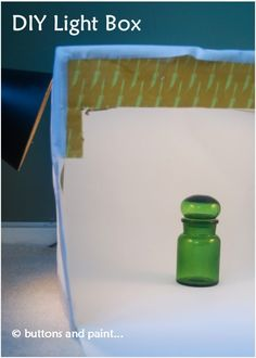 How to make your own Light Box, using a cardboard box!