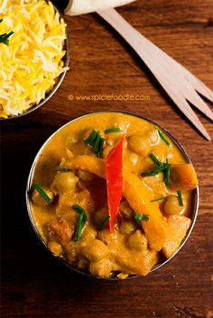 Butternut Squash and Garbanzo Curry | Spicie Foodie - DailyBuzz Food