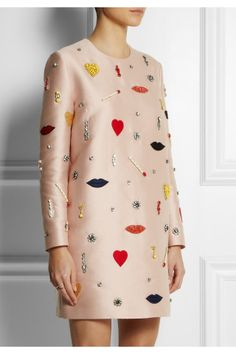 Stella McCartney | Aubine embellished satin-twill dress | NET-A-PORTER.COM