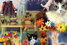 Vintage collage cats - (#143783) - High Quality and Resolution Wallpapers on hqWallbase.com