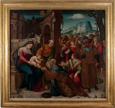 "Adorazione dei MagiGirolamo Ramarino detto ""Girolamo da Salerno"", 1520 ca."