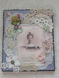 Shabby Chic Collage on Canvas  Antique Lace by KISoriginals, $89.00