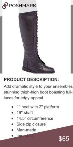 Lace up over the knee boots NWT sz 7 Never worn or even tried on. Price is firm. Shoes Over the Knee Boots