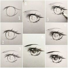 curtidas, 24 comentrios - Ivy s diary (ivyesre) no (Anime eye drawing tutorial step by step.) The steps thats going to be explained, goes in order Eye Drawing Tutorials, Drawing Techniques, Drawing Tips, Art Tutorials, Drawing Ideas, Drawing Base, Drawing Reference, Deep Drawing, Drawing Sketches