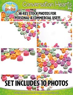 10 Conversation Hearts Stock Photos Pack  Includes Commercial License!These photographs were taken by Zip-A-Dee-Doo-Dah Designs and they are for personal and commercial use! You will receive 10 photos that were taken by myself that are 300DPI Hi-Res photos.