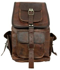 Leather Backpack Messenger Bag. Actually I just want this.