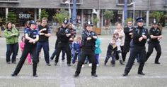 'Gangnam' policemen spotted in Falmouth