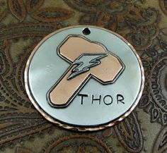 Custom Dog ID Tag  Hammer and Lighing Bolt by IslandTopCustomTags, $38.00