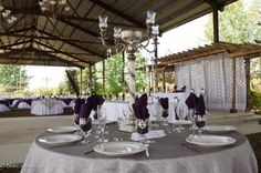 Silver Bling Reception Table
