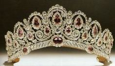 WESTMINSTER PINK DIAMOND SPINEL BAGRATION TIARA